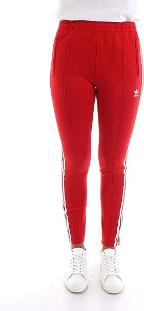 representante industria raro  adidas SST TP Pantalones para Mujer Rojo ED7575: Amazon.es: Ropa y ...