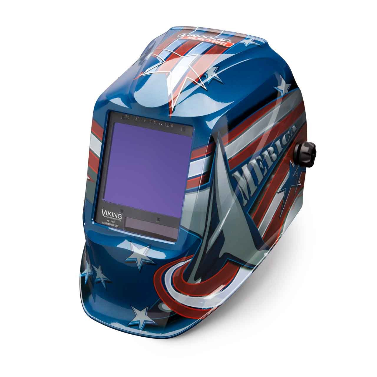 Welding Helmet, American Flag Graphic by Lincoln Electric