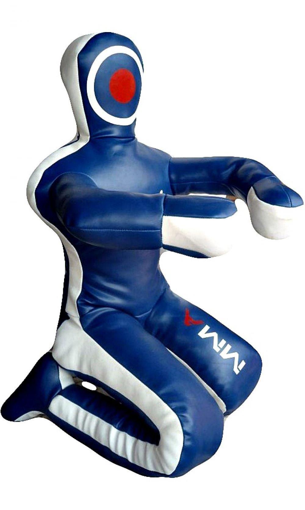 Celebrita MMA Judo Punching Bag Grappling Dummy unfilled - Sitting Position hands front MMA382 Leather - Blue 59'' Up to 45kg/99 lb