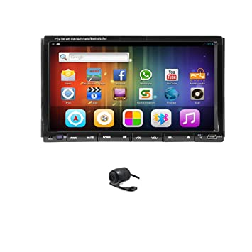 Android headunit 4.2.2 Din stereo free backup camera 7 inch Car DVD Stereo Player