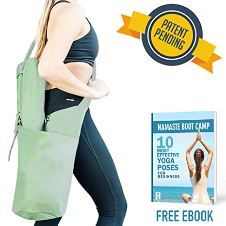 2db9ac997aad RIMSports Yoga Mat Bags for Women - Lightweight Yoga Carrier with Hoodie -  Ideal for Yoga Accessories   Yoga Gear - Large Yoga Mat Carrier Bag- Best  Yoga ...