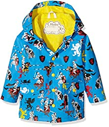 Hatley Little Boys\' Classic Printed Raincoat, Medieval Knights, 5