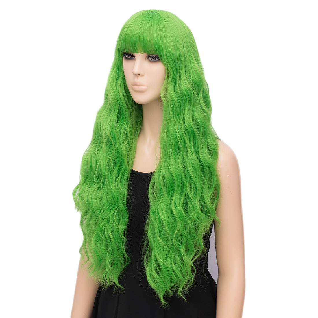 netgo Womens Pink Wig Long Fluffy Curly Wavy Hair Wigs for Girl Heat Friendly Synthetic Cosplay Party Wigs