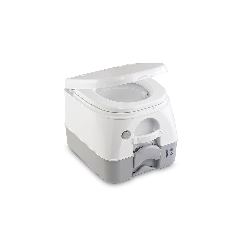 DOMETIC 9108557679 Portable 972 mit 360° Druckspülung Campingtoilette, Weiß/Grau Dometic WAECO International GmbH