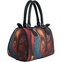 Bangprice Canvas digital printed multipurpose Metallic Buddha designer stylish duffle tote and handbag for Girls/Women