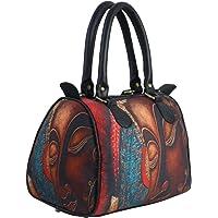 "bang price Women's Canvas Digital Printed Multipurpose Metallic Buddha Design Duffle (Multicolour, Width 12"", Height 8.5"", Depth 7"")"