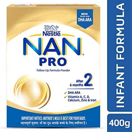 Nestle Nan Pro 2 Follow-Up Infant Formula Powder, After 6 months, 400g