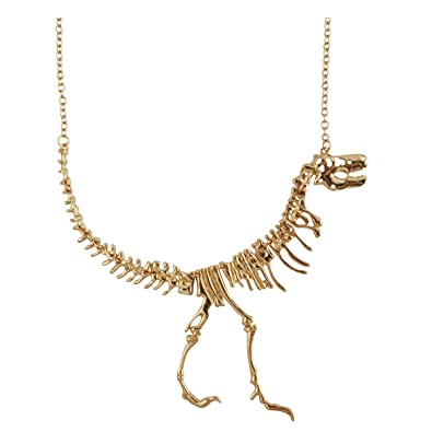 JANE STONE Color Gold Dinosaur Vintage Necklace Short Collar (Fn1415-Gold) b3a5cb652411