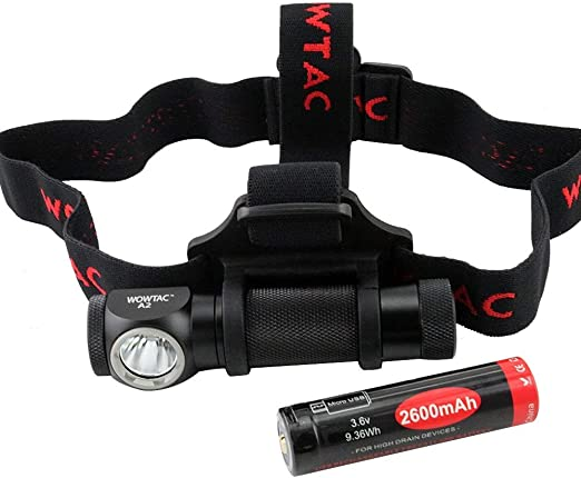 Super Bright WOWTAC A2 LED Headlamp 5 Modes Max 550 Lumens Waterproof Headlight