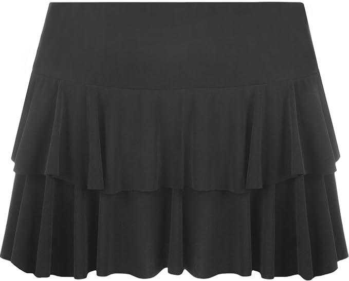 c449ac3f3a WearAll New Ladies Rara Mini Short Skirt Womens - Black - US 8-10 ...