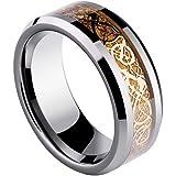 Sorella'z Golden Dragon 316L Stainless Steel Ring for Men