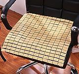 LivebyCare Bamboo Rattan Summer Cool Chair Cover Seat Car Cushion Pad Mat Sofa Office Lap Top Pet Dog Cat