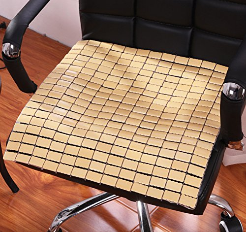 LivebyCare Bamboo Rattan Summer Cool Chair Cover Seat Car Cushion Pad Mat Sofa Office Lap Top Pet Dog Cat by LivebyCare