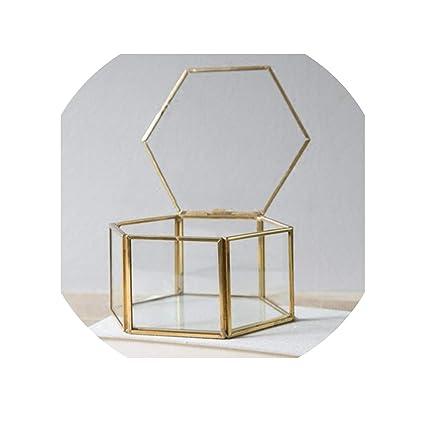 Amazon.com: ghhingj - Caja organizadora de cristal para ...