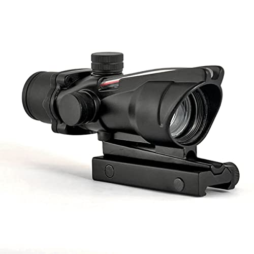 Alrebeto CL-Sports ACOG Type 1X32 Tactical Green or Red Dot Sight Real Green Fiber Optic Riflescope