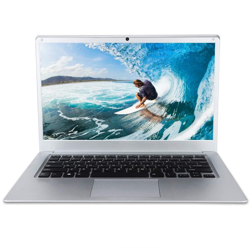 Fosa 14インチLED HDスクリーンラップトップ クアッドコアネットブック2 + 32G Windows10 64ビット対応 100-240V(シルバー USプラグ)  シルバー USプラグ B07PMNCMDB