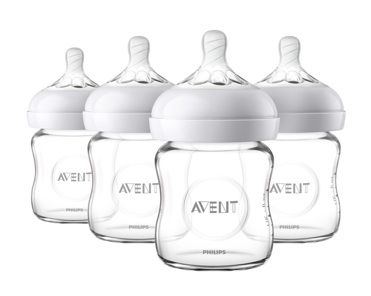 4oz 3pk Clear NUK Simply Nautral Glass Baby Bottle