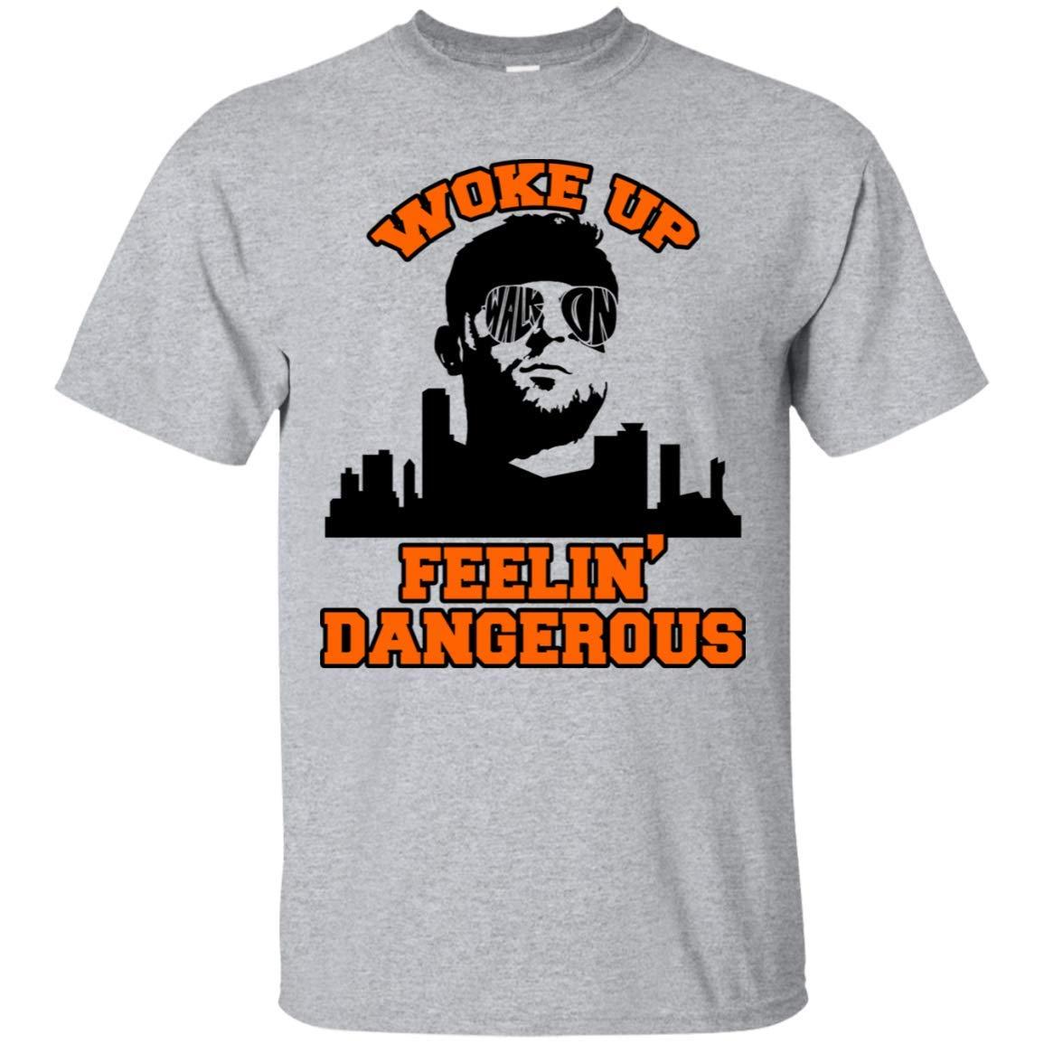 Woke Up Dangerous Cleveland Funny Football Tshirt Brownies Needed A Baker Vneck Shirt