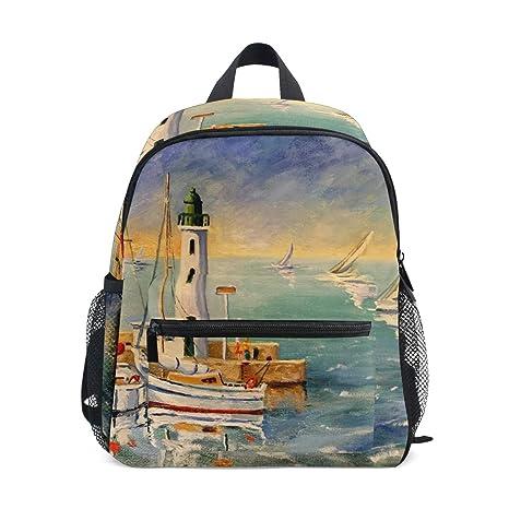 economico per lo sconto 2cc3a 6cfd3 Cpyang, zaino per bambini da spiaggia, barca a vela, scuola ...