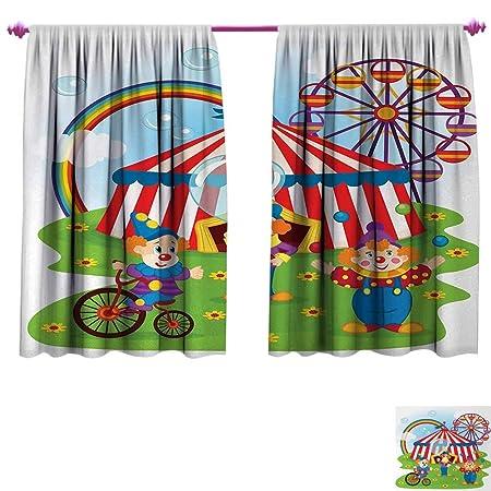 Anniutwo Circus Decor Cortinas Personalizadas Ilustración de ...