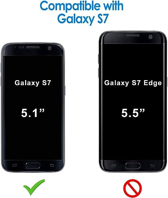 JETech Funda para Samsung Galaxy S7, Carcasa con Fibra de Carbono, Anti-Choques, Negro: Amazon.es: Electrónica