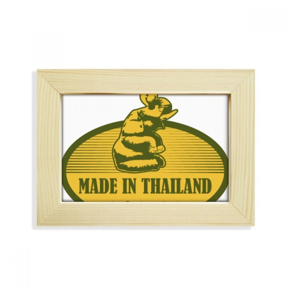 DIYthinker Thai Customs Culture Made in Thailand Desktop Wooden Photo Frame Picture Art Painting 5x7 inch by DIYthinker