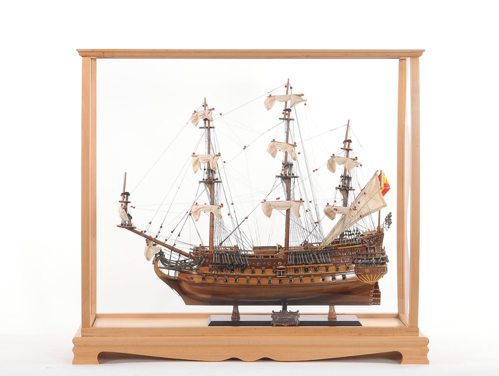 Old Modern Handicrafts P033 Display Case for Midsize Tall Ship Clear Finish by Old Modern Handicrafts (Image #5)