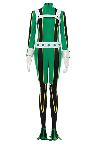 Noveltyboy Bnha Boku No Hero My Hero Academia Asui Tsuyu Cosplay Costume Jumpsuit Tights Bodysuit