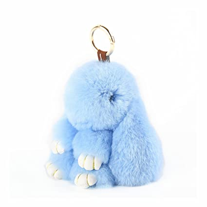 YISEVEN Stuffed Bunny Keychain Toy - Soft and Fuzzy Large Stitch Plush  Rabbit Fur Key Chain - Cute Fluffy Bunnies Floppy Furry Animal Doll Easter  Gifts for ... 1e27c6f86