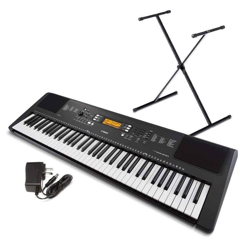 Yamaha PSR-EW300 SA 76-Key Portable Keyboard Bundle with Stand and Power Supply (Renewed) by Yamaha