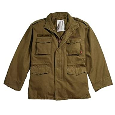 Amazon.com  Russet Brown Military Vintage M-65 Field Jacket 8616 ... 256536cc463