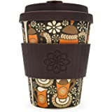 Vintage Pattern Ecoffee Cup   Project Waterfall Morning Coffee   12oz / 340ml   Reusable Bamboo Coffee Cup
