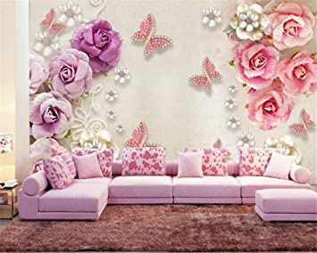 Amazon Com 2020 3d Wallpapers Retro European Style Jewelry Butterfly Love Flower 3d Stereo Tv Background Wall 3d Wallpapers 200x140cm Baby