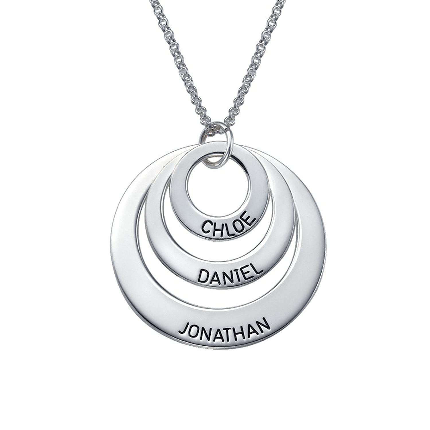 Amazon engraved jewelry for moms three circle necklace in 925 amazon engraved jewelry for moms three circle necklace in 925 silver custom made pendant with any name jewelry aloadofball Gallery