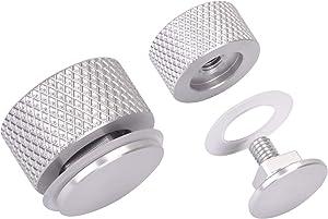 Newace Welding Helmet Pipeliner Headgear Replacement Parts Accessories for Screws Flip Hood Fasteners Aluminum (Silver)