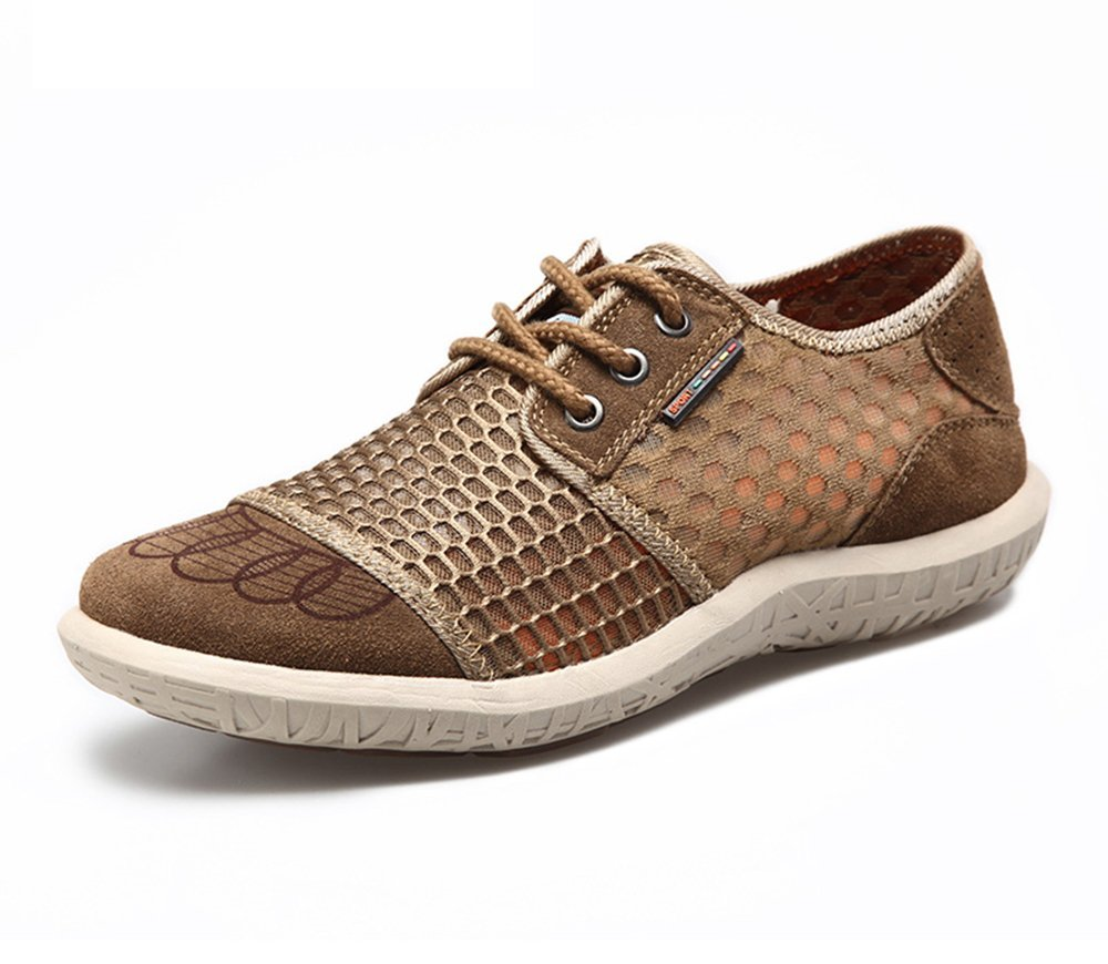 HumgFeng Mesh Casual Breathable Leather Comfort Shoes for Men