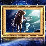 Bazaar 30x40cm 5D DIY Leo Diamond Painting Resin Full Rhinestone Twelve Constellations Cross-stitch Kit