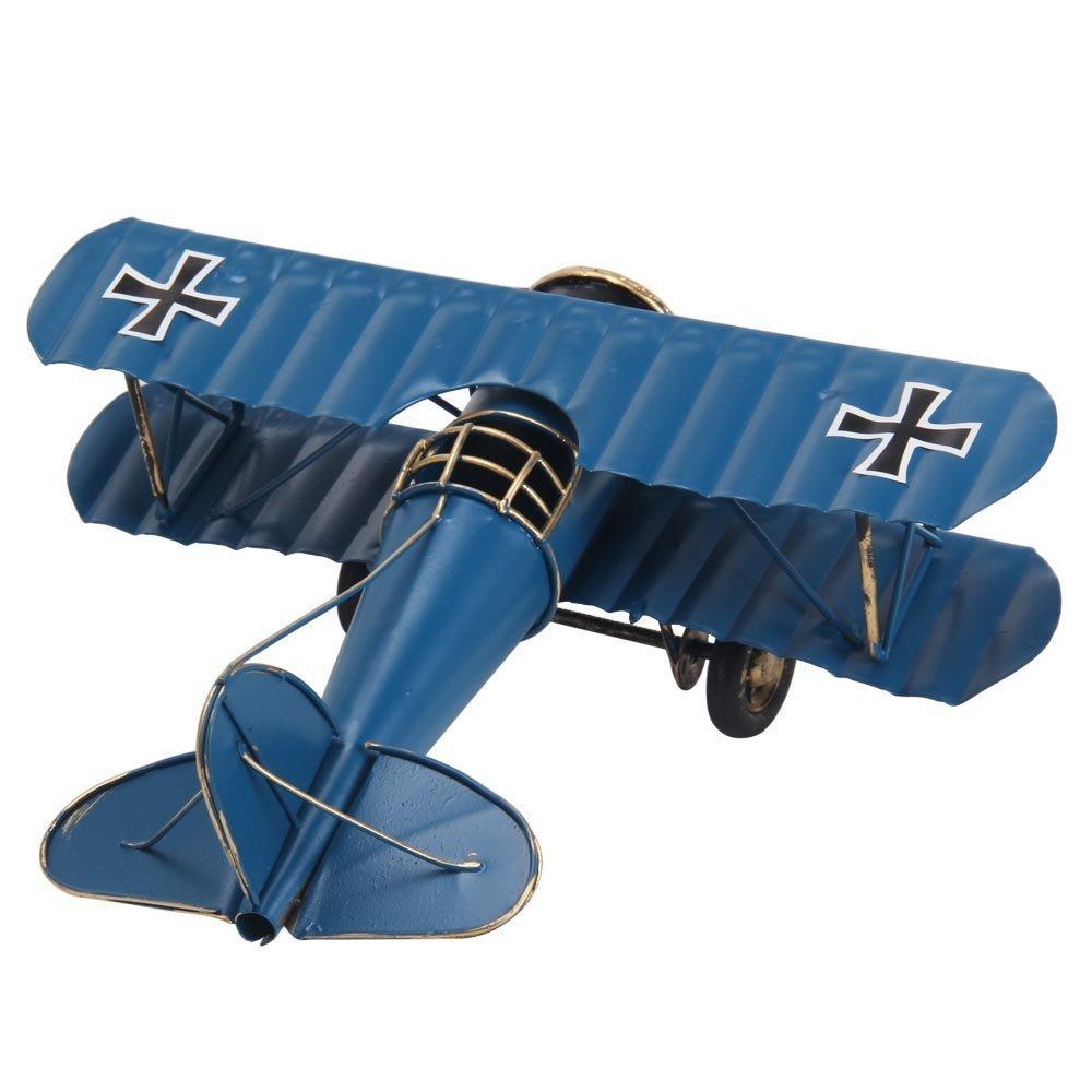 Berry pr/ésident /® Vintage//r/étro a/éronef fait en fer forg/é Grand-bi-m/étal-Avion Biplane The un type da/éronef choix pour accessoires Photo cadeau de No/ël//d/écoration//D/écoration souvenir /&eacu