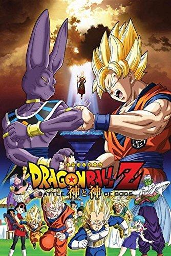 DragonBall Z Battle of the Gods Fighting 36x24 Animation Art