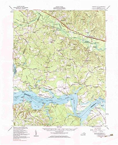 Yellowmaps Charles City Va Topo Map  1 62500 Scale  15 X 15 Minute  Historical  1953  Updated 1984  21 9 X 17 9 In   Tyvek