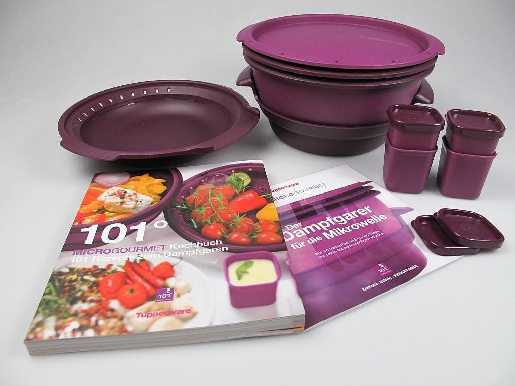 Tupperware Microondas Micro Gourmet Vaporera, Vapor, moldes (4 ...