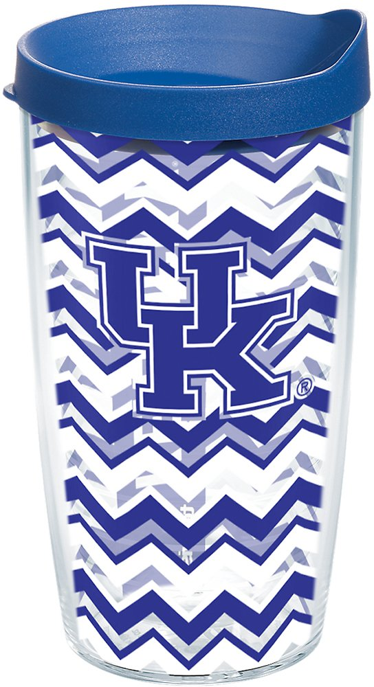 Tervis 1218510 Kentucky Wildcats College Statement Tumbler with Wrap and Blue Lid 24oz Clear