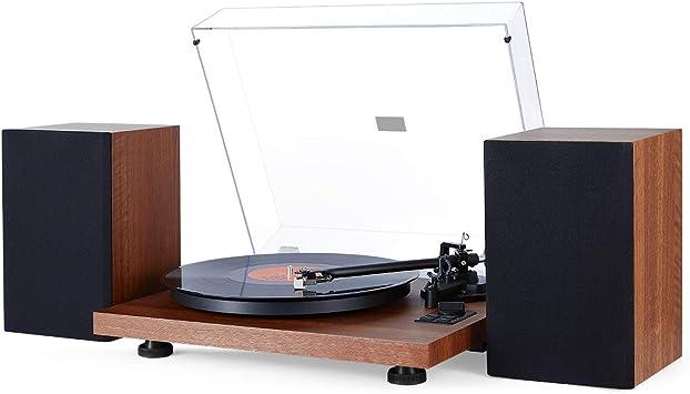 1 BY ONE Tocadiscos Inalambrico con Sistema Hi-Fi con Altavoces ...