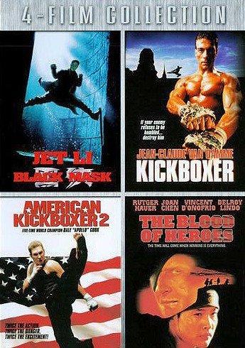 DVD : Black Mask / Kickboxer / American Kickboxer 2 / Blood of Heroes (2 Disc)