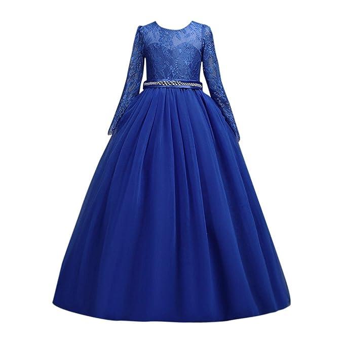 Vestido de Fiesta Niñas Cordón Boda Princesa Vestidos de Novia Cóctel, Lonshell Vestido de Boda del Partido del de Tul del Tutú del Cordón de La Princesa de ...