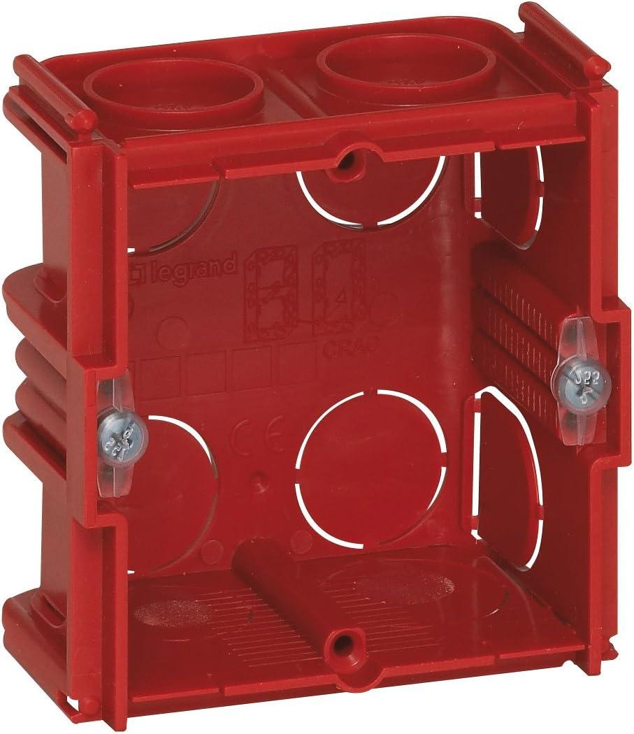 1 compartimento, profundidad de 40 mm Legrand Batibox LEG90531 Caja para muros de siller/ía y ladrillo
