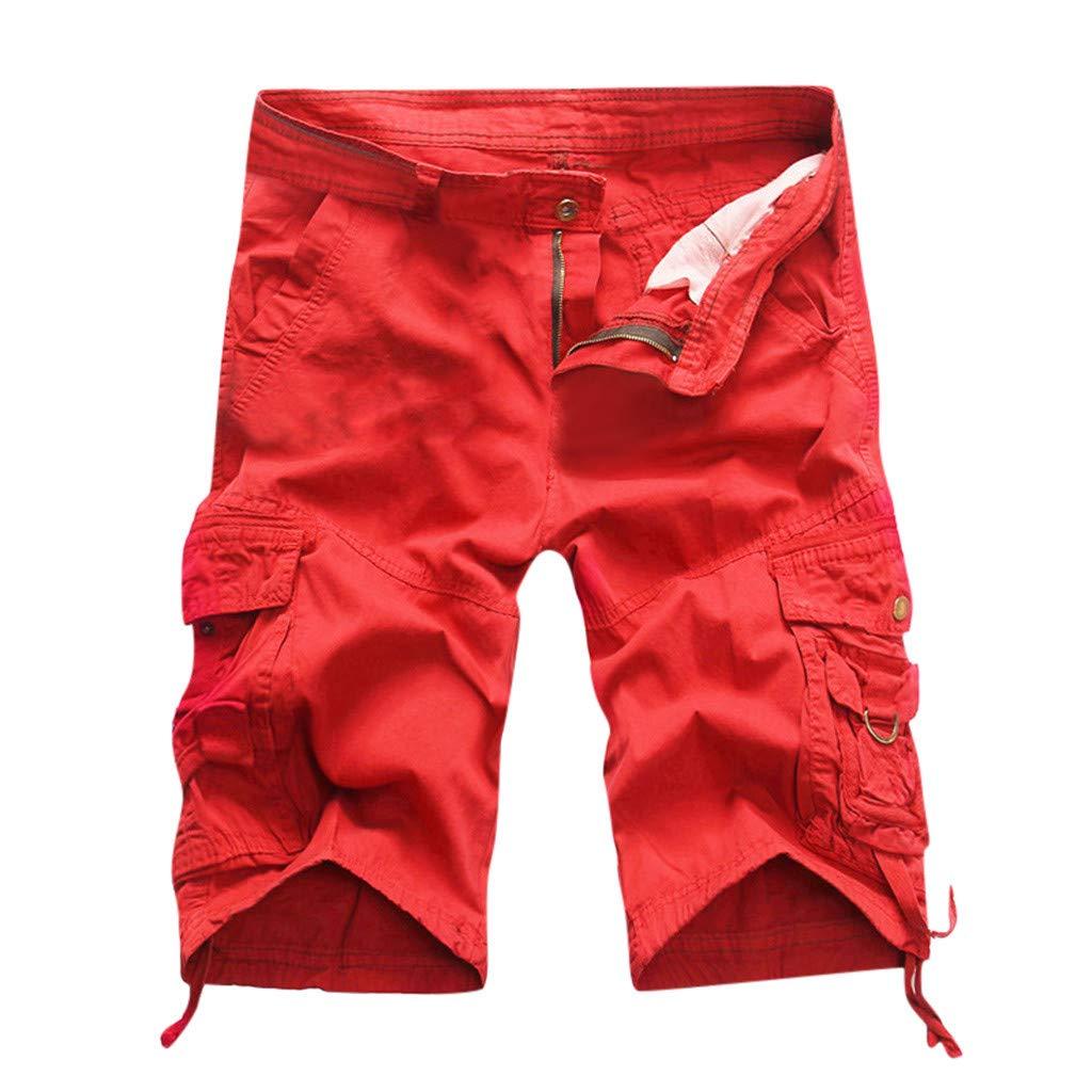 TWISFER Herren Kurze Hose Shorts Arbeitshose Bundhose ohne G/ürtel Vintage Kurze Hose Sommer Cargo Shorts Sport Outdoor Arbeitshosen Freizeithose 1//2 Bermuda