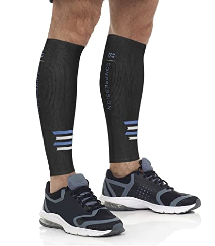 186f4ff253621 Calf Compression Sleeves for Running, Fitness, Nursing, Travel, Maternity –  Boosts Circulation and Blood Flow – Relief for Shin Splints