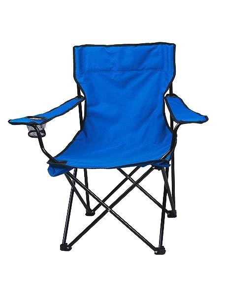 Fabulous Story Home Quad Metal Foldable Camping Chair Blue Machost Co Dining Chair Design Ideas Machostcouk