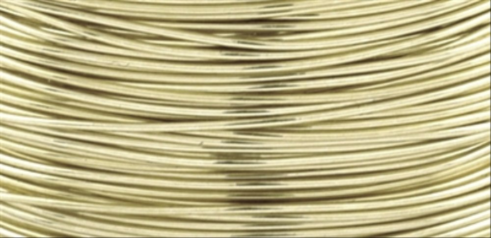 Beadalon AWD-18-NTB-04YD Artistic Wire 18-Gauge Non-Tarnish Brass Wire, 4-Yards